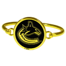 Siskiyou Buckle Vancouver Canucks Gold Tone Bangle Bracelet, HGBB35