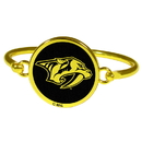 Siskiyou Buckle Nashville Predators Gold Tone Bangle Bracelet, HGBB40