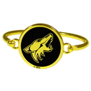 Siskiyou Buckle Arizona Coyotes Gold Tone Bangle Bracelet, HGBB45
