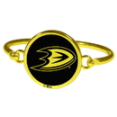 Siskiyou Buckle Anaheim Ducks Gold Tone Bangle Bracelet, HGBB55