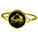 Siskiyou Buckle Colorado Avalanche Gold Tone Bangle Bracelet, HGBB5