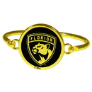 Siskiyou Buckle Florida Panthers Gold Tone Bangle Bracelet, HGBB95