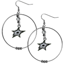 Siskiyou Buckle HHE125 Dallas Stars 2 Inch Hoop Earrings