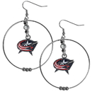 Siskiyou Buckle HHE130 Columbus Blue Jackets 2 Inch Hoop Earrings