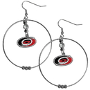 Siskiyou Buckle HHE135 Carolina Hurricanes 2 Inch Hoop Earrings