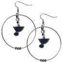 Siskiyou Buckle HHE15 St. Louis Blues 2 Inch Hoop Earrings