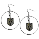 Siskiyou Buckle HHE165 Las Vegas Golden Knights 2 Inch Hoop Earrings