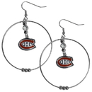 Siskiyou Buckle HHE30 Montreal Canadiens 2 Inch Hoop Earrings