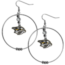 Siskiyou Buckle HHE40 Nashville Predators 2 Inch Hoop Earrings