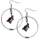 Siskiyou Buckle HHE45 Arizona Coyotes 2 Inch Hoop Earrings