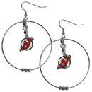 Siskiyou Buckle HHE50 New Jersey Devils 2 Inch Hoop Earrings