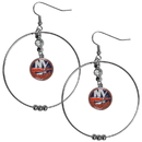 Siskiyou Buckle HHE70 New York Islanders 2 Inch Hoop Earrings