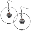 Siskiyou Buckle HHE90 Edmonton Oilers 2 Inch Hoop Earrings