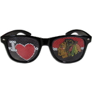Siskiyou Buckle HHGD10B Chicago Blackhawks I Heart Game Day Shades