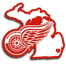 Siskiyou Buckle HHSD110 Detroit Red Wings Home State Decal