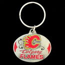 Siskiyou Buckle HK60 Calgary Flames? Carved Metal Key Chain