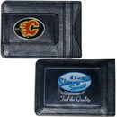 Siskiyou Buckle HLMC60 Calgary Flames? Leather Cash & Cardholder
