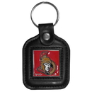 Siskiyou Buckle HLS120 Ottawa Senators? Square Leather Key Chain
