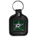 Siskiyou Buckle HLS125 Dallas Stars Square Leather Key Chain