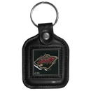 Siskiyou Buckle HLS145 Minnesota Wild? Square Leather Key Chain