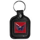 Siskiyou Buckle HLS150 Washington Capitals? Square Leather Key Chain