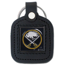 Siskiyou Buckle HLS25 Buffalo Sabres? Square Leather Key Chain