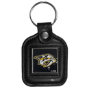 Siskiyou Buckle HLS40 Nashville Predators? Square Leather Key Chain