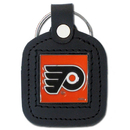 Siskiyou Buckle HLS65 Philadelphia Flyers? Square Leather Key Chain