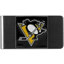 Siskiyou Buckle HMCL100 Pittsburgh Penguins? Steel Money Clip