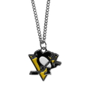 Siskiyou Buckle HN100SC Pittsburgh Penguins Chain Necklace with Small Charm