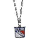Siskiyou Buckle HN105SC New York Rangers Chain Necklace with Small Charm