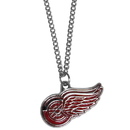 Siskiyou Buckle HN110SC Detroit Red Wings Chain Necklace with Small Charm