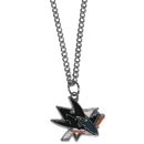 Siskiyou Buckle HN115SC San Jose Sharks Chain Necklace with Small Charm