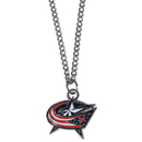 Siskiyou Buckle HN130SC Columbus Blue Jackets Chain Necklace with Small Charm