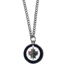 Siskiyou Buckle HN155SC Winnipeg Jets Chain Necklace with Small Charm