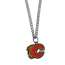 Siskiyou Buckle HN60SC Calgary Flames Chain Necklace with Small Charm