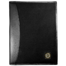 Siskiyou Buckle HPAD20 Boston Bruins Leather and Canvas Padfolio
