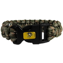 Siskiyou Buckle HSUB100GC Pittsburgh Penguins Camo Survivor Bracelet