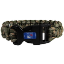 Siskiyou Buckle HSUB105GC New York Rangers Camo Survivor Bracelet