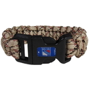 Siskiyou Buckle HSUB105TC New York Rangers Camo Survivor Bracelet
