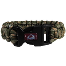 Siskiyou Buckle HSUB5GC Colorado Avalanche Camo Survivor Bracelet