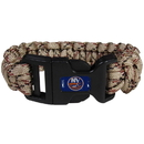 Siskiyou Buckle HSUB70TC New York Islanders Camo Survivor Bracelet