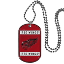 Siskiyou Buckle HTN110 Detroit Red Wings Tag Necklace