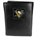 Siskiyou Buckle HTR100BX Pittsburgh Penguins? Deluxe Leather Tri-fold Wallet