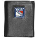 Siskiyou Buckle HTR105BX New York Rangers? Deluxe Leather Tri-fold Wallet