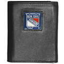 Siskiyou Buckle HTR105 New York Rangers? Deluxe Leather Tri-fold Wallet Packaged in Gift Box