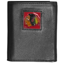 Siskiyou Buckle HTR10BX Chicago Blackhawks? Deluxe Leather Tri-fold Wallet
