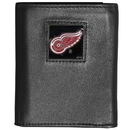 Siskiyou Buckle HTR110 Detroit Red Wings? Deluxe Leather Tri-fold Wallet Packaged in Gift Box
