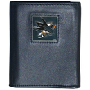 Siskiyou Buckle HTR115 NHL Trifold Wallet in Tin - San Jose Sharks
