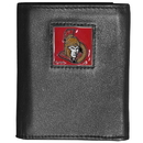 Siskiyou Buckle HTR120 Ottawa Senators Deluxe Leather Tri-fold Wallet Packaged in Gift Box